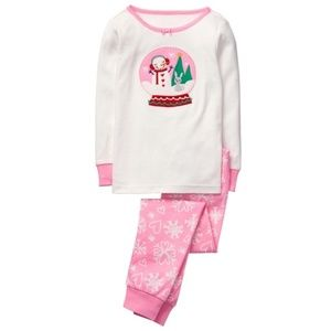 """NORTH POLE PARTY"" Snow Globe Gymmies PJ' 2 Pc."